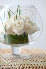 wedding flowers florist- Tres Chic Fishbowl a ...