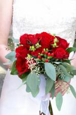 wedding flowers florist- Red